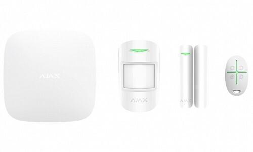 AJAX TCP-IP/GSM Alarm Hub White Starter Kit