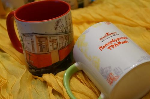 Кружка сувенирная с Петербургским ТРАМваем