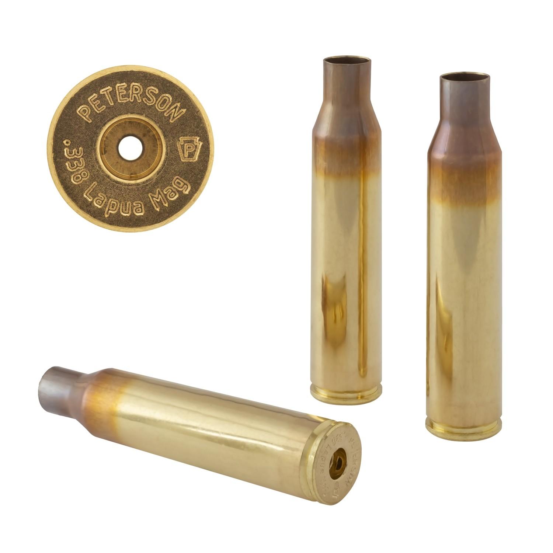 Peterson .338 Lapua Mag Select - Box of 50 Brass Rifle Casings