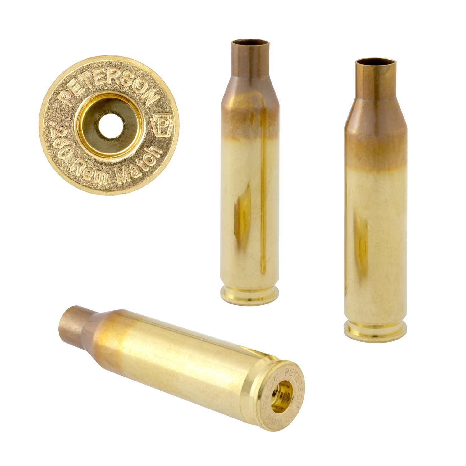 Peterson .260 Rem  Select - Box of 50 Brass Rifle Casings