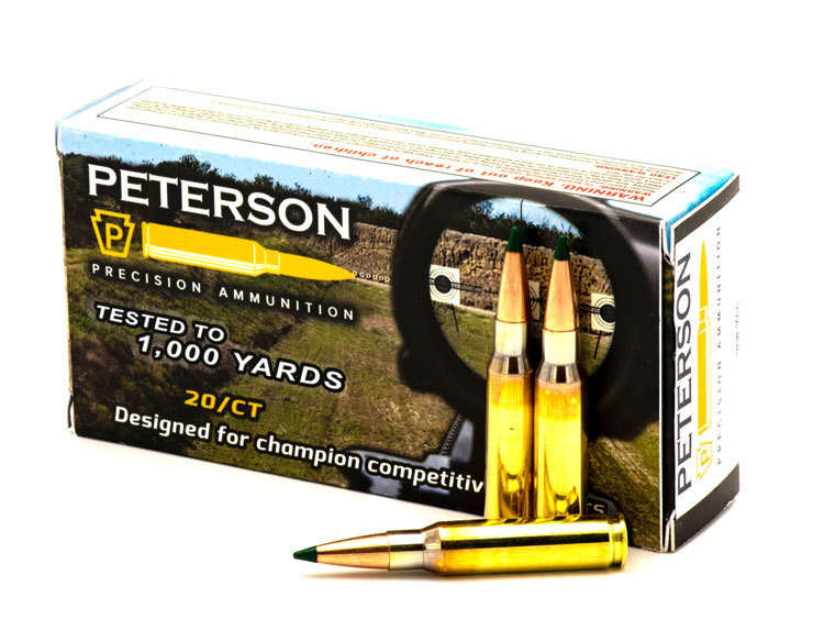 Peterson .308 Win Match 175gr Sierra Matchking Tipped - Box of 20