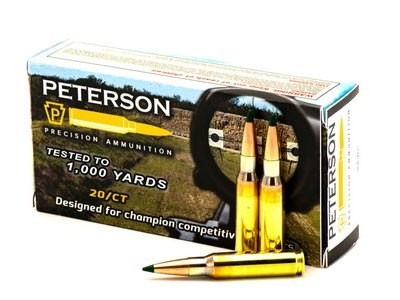 Peterson .308 Win Match 168gr Sierra Matchking Tipped - Box of 20