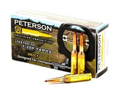 Peterson 6mm Creedmoor 108gr Hornady ELDM - Box of 20