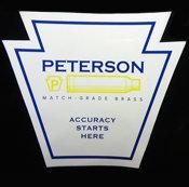 Peterson Cartridge Sticker