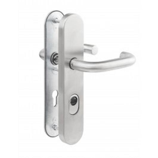 Veiligheidsdeurbeslag ALU kruk - kruk, PC 72 mm, voor houten deuren
