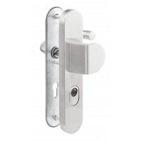 Veiligheidsdeurbeslag ALU greep/kruk, PC 72mm, voor houten deuren