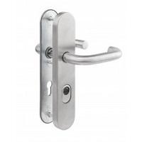 Veiligheidsdeurbeslag RVS, kruk/kruk, PC 72 mm, voor houten deuren