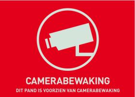 Waarschuwingssticker Camerabewaking 74 x 52,5 mm