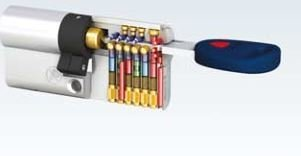 Mauer New Wave 4 - halve cilinder met 3 sleutels