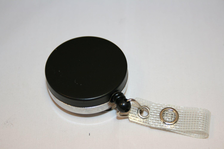 Standaard YoYo metaal - uitvoering, incl. clip - zwart -  per stuk