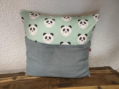 Coussin range doudou panda