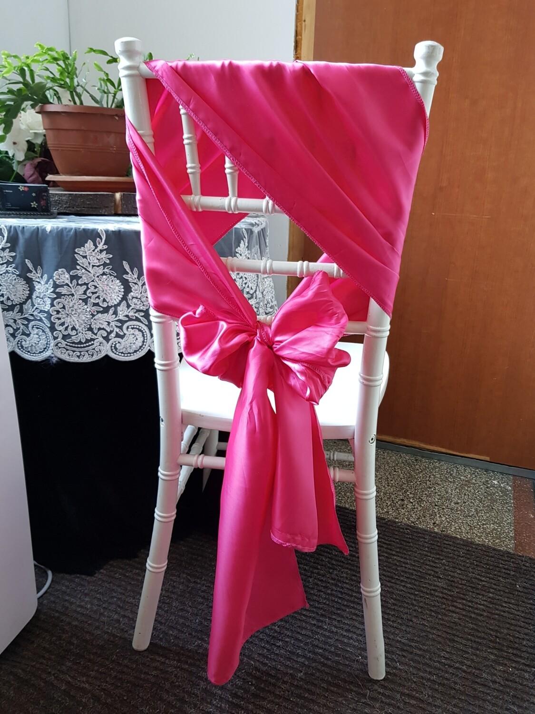 Esarfe satin roz fucsia 30x 250 cm