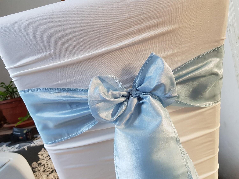 Esarfe tafta bleu-cenusiu 14x200 cm