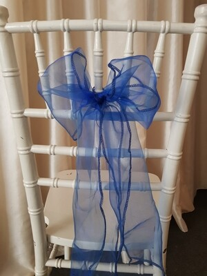 Esarfa 15x150 cm organza albastru