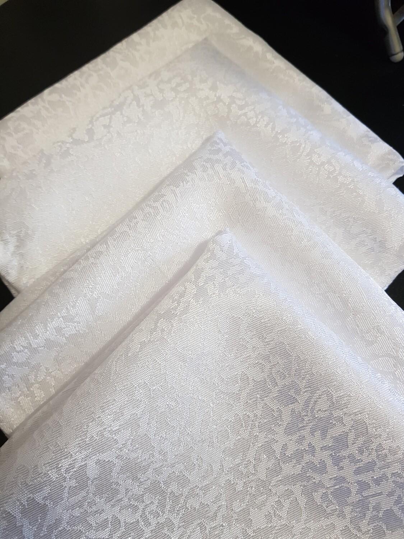 Servet brocart alb - marmura 30x30 cm,