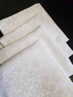 Servet 40x40 cm brocart alb