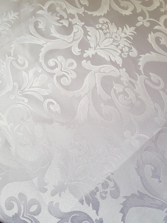 Napron 90x90 cm, brocart alb