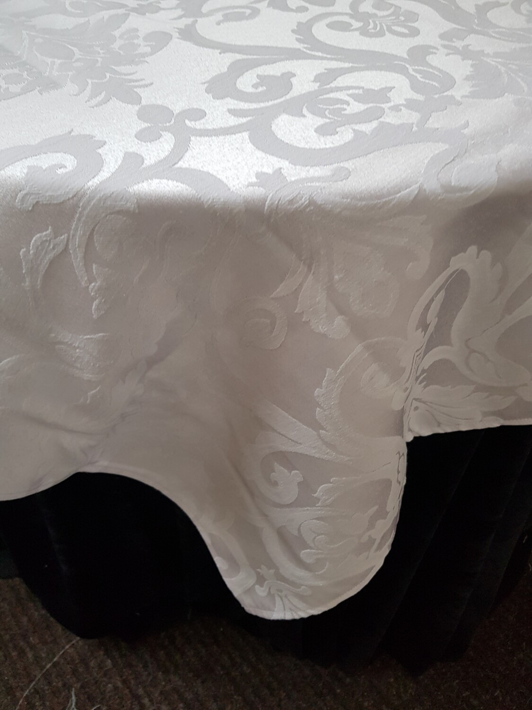 Napron 90x90 cm, damasc alb