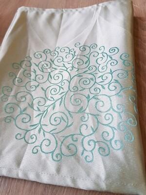 "Napron 30x140cm , brocart verde ""Tiffany"""