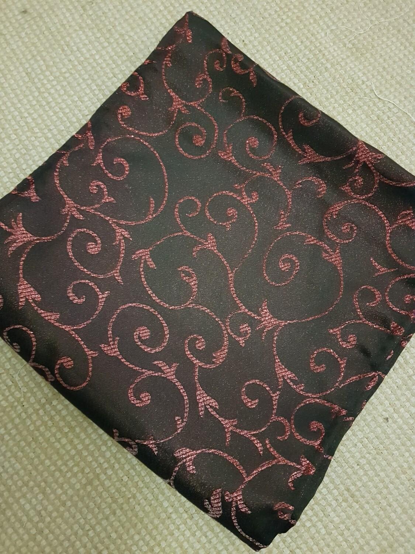 Napron 30x120cm, brocart negru si rosu