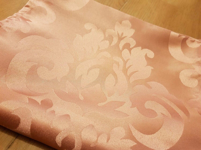 Napron 30x195 cm, brocart roz prafuit