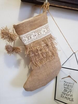 Ciorap pentru cadouri, tematica rustica