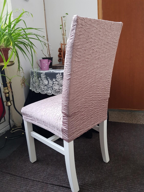Set huse scurte (creponate) pentru scaun