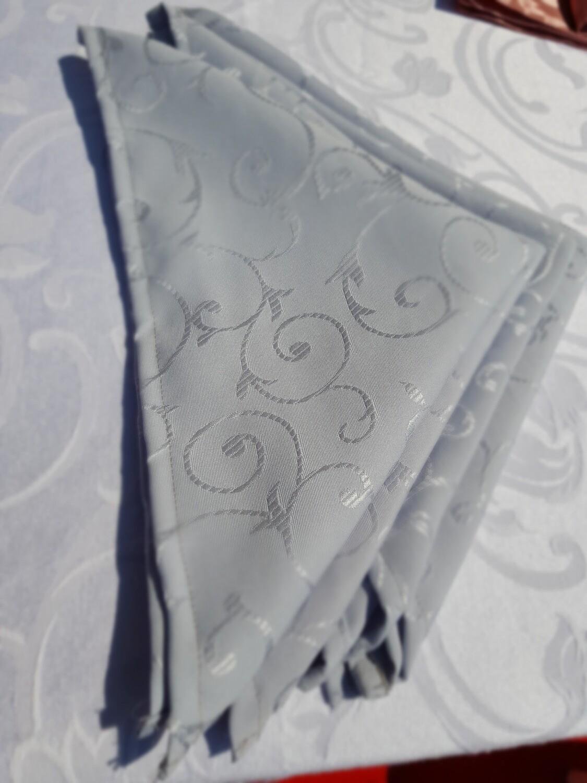 Servet brocart gri, 40x40 cm