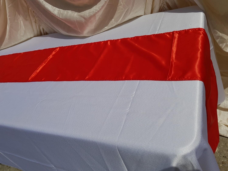 Napron 30x260 cm -satin rosu