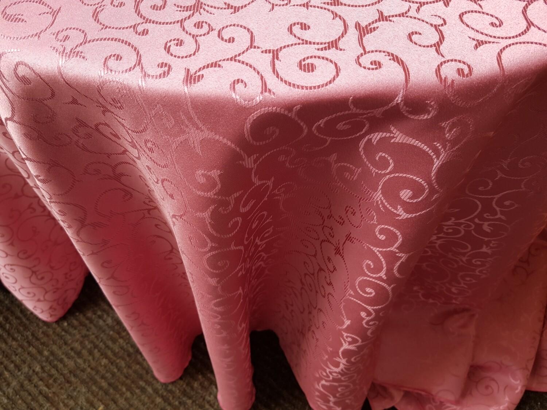Fete masa D300 cm roz zmeuriu