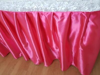 Fusta masa 75x600 cm satin roz