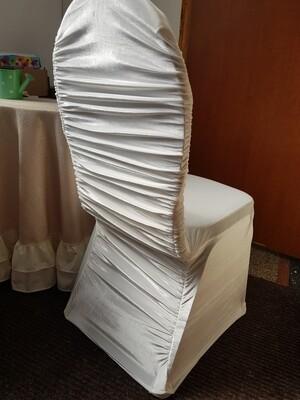 Husa catifea elastica ivory