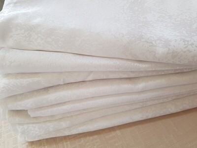 Servet brocart alb 30x30 cm