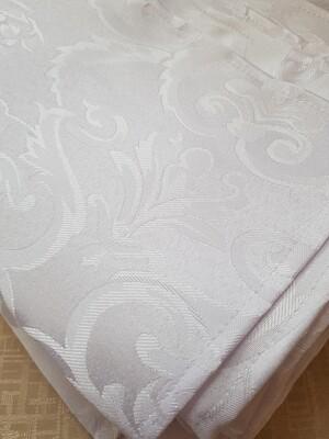 Servet brocart alb model tapet 35x35 cm