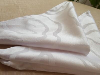 Servet damasc alb 30x30 cm