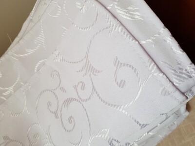 Servet brocart alb, model cerculete 30x30 cm