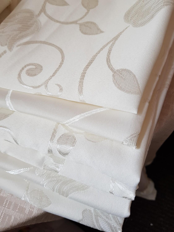 Servet brocart ivory model lalea, 30x30 cm