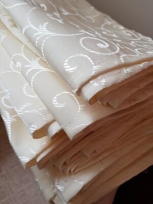 Servet brocart ivory galbui 35x35 cm
