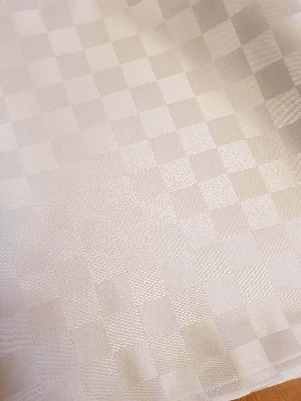 Traversa 30x150cm, brocart alb