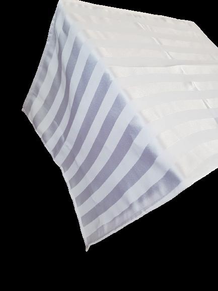 Traversa masa 30x160 cm, damasc alb