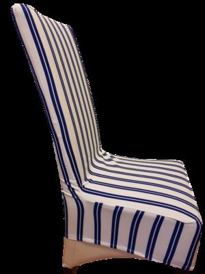 Huse scaune confectionate din tesatura elastica in dungi