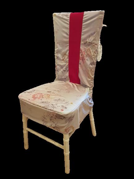 Set 4 huse scaun cu accente fucsia