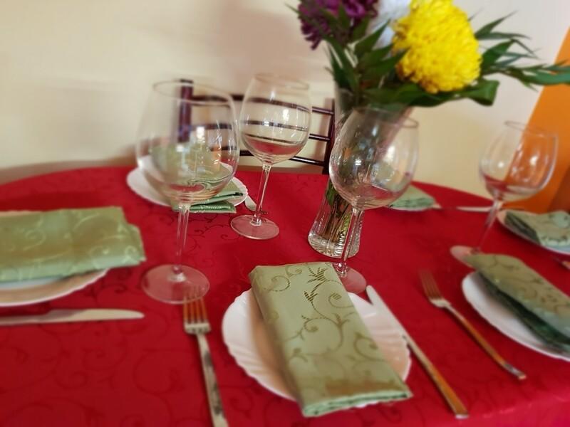 Set masa rosu & verde