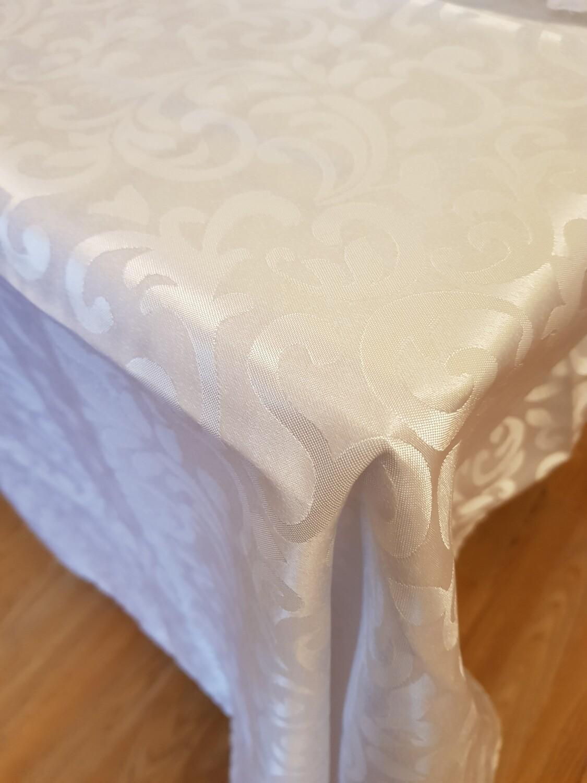 Fata masa 140x190 cm brocart alb