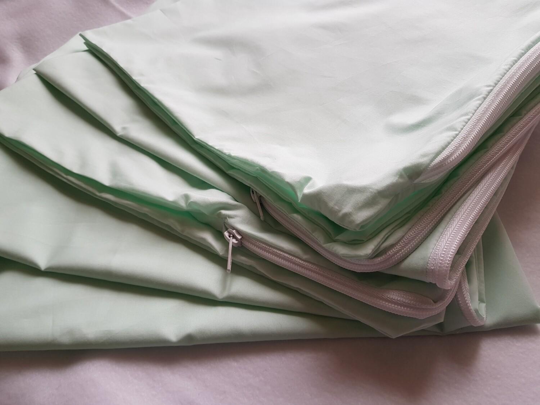 Fete perna bumbac verde deschis/pastel
