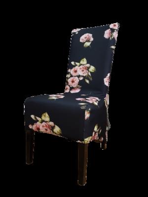 Huse elastice pentru scaun- trandafiri roz