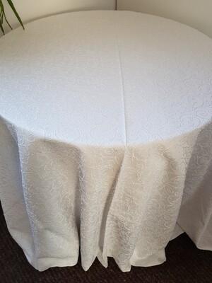 Fata masa brocart alb, D280 cm