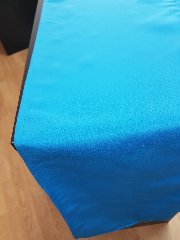 Traversa masa 36x220 cm , albastru turcoaz