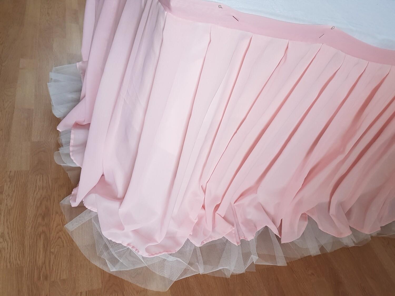 Fusta masa voal roz pal L400 cm