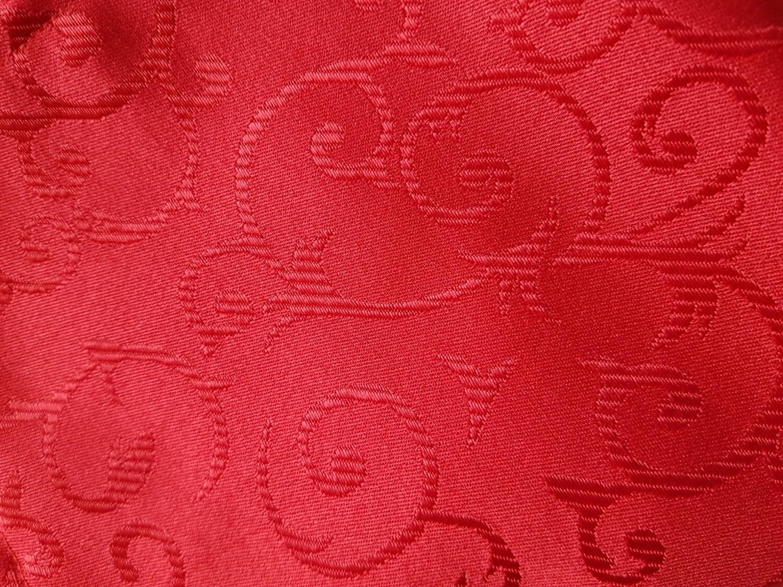 Servet brocard rosu 38x38 cm